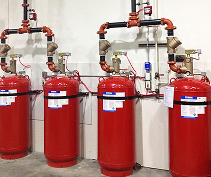 الغاز المستخدم في اطفاء الحرائق
